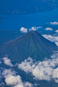 Aerial View of Arenal Volcano in Costa Rica