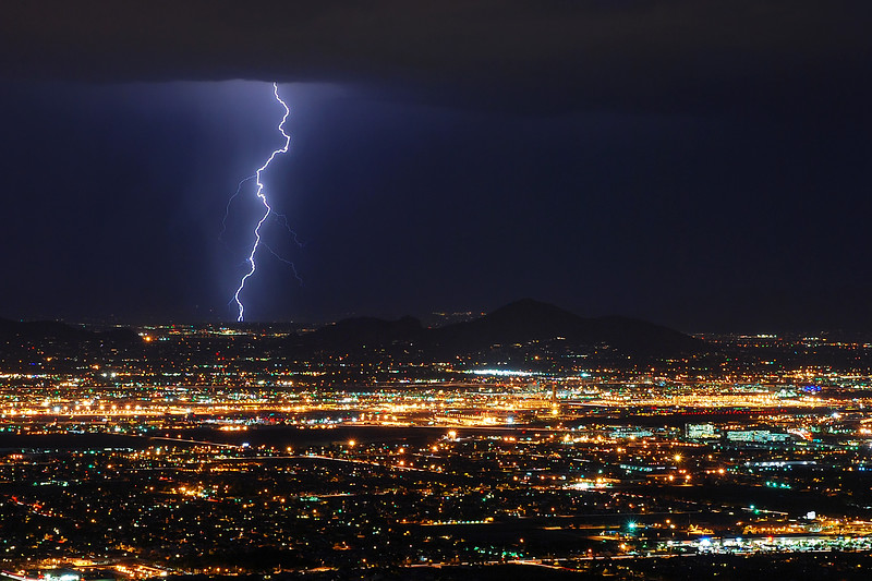 Lightning over Phoenix, Arizona