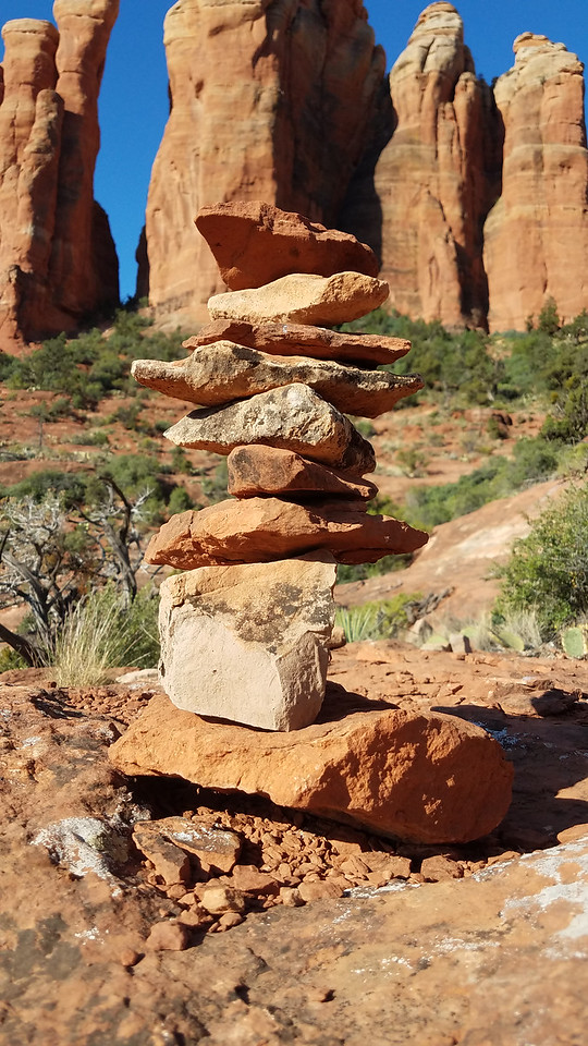 You have to build a cairn. It's supposed to beacon the mountain energy back to you.