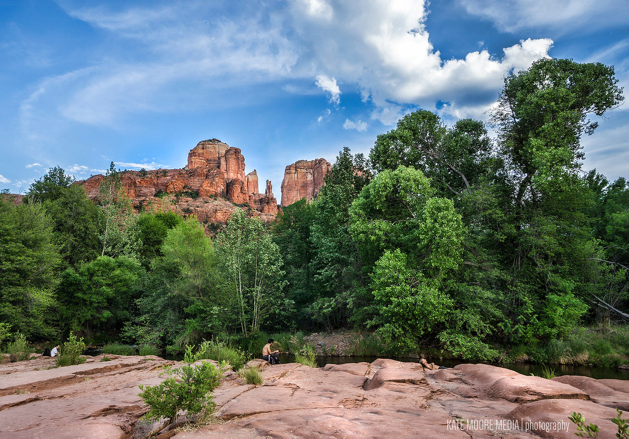 Red Rock Crossing park, Sedona, overlooking Cathedral Rock