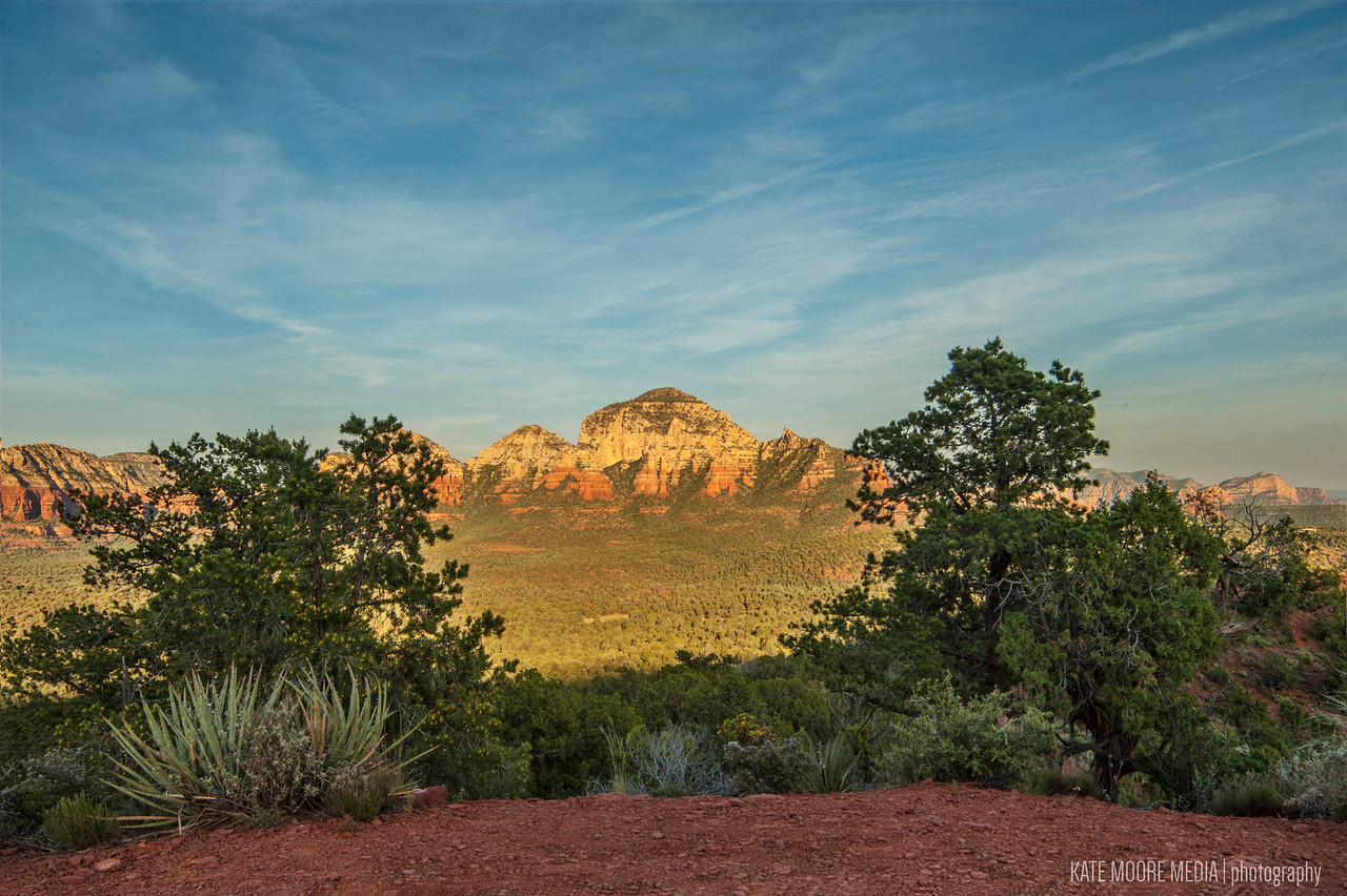 View from Mystic Ridge, twilight in Sedona