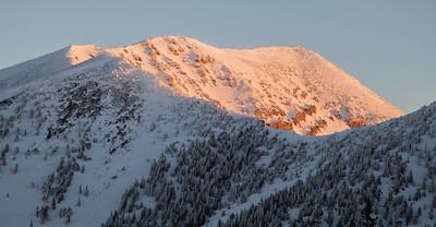Early Morning Light, Sanfrancisco Peaks, Flagstaff, AZ