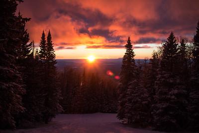 Sunset at Arizona Snowbowl, Flagstaff, AZ