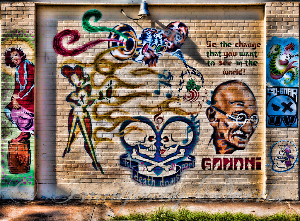 Graffiti on Lamar Blvd