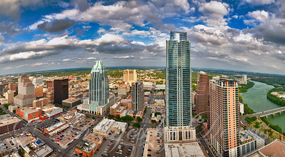 Birds eye view off downtown Austin