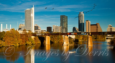 Downtown Austin From Pfluger Bridge