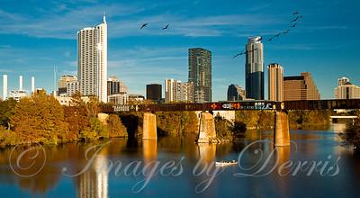 Downtown Austin From Pfluger Bridge