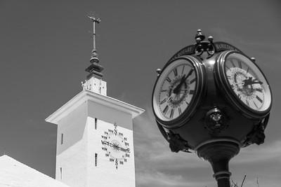 city hall and rotary clock