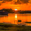 pontoons sunset