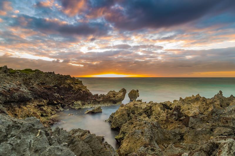 sunrise at gravelly bay
