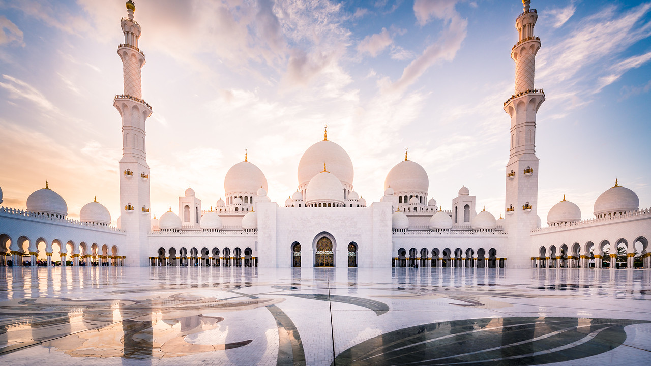 Evening At The Sheikh Zayed Grand Mosque