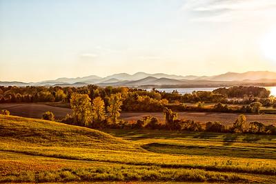 Adirondacks from Vermont at Sunset