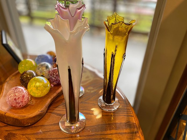 Hand blown Graceful Flower Vases