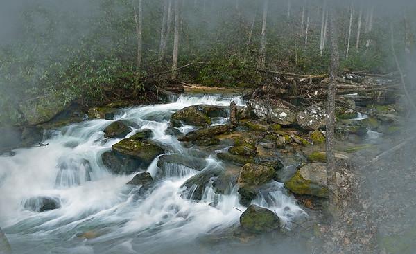 Misty Falls in watercolor