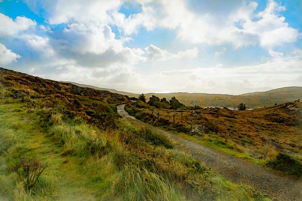 Irish Countryside in watercolor