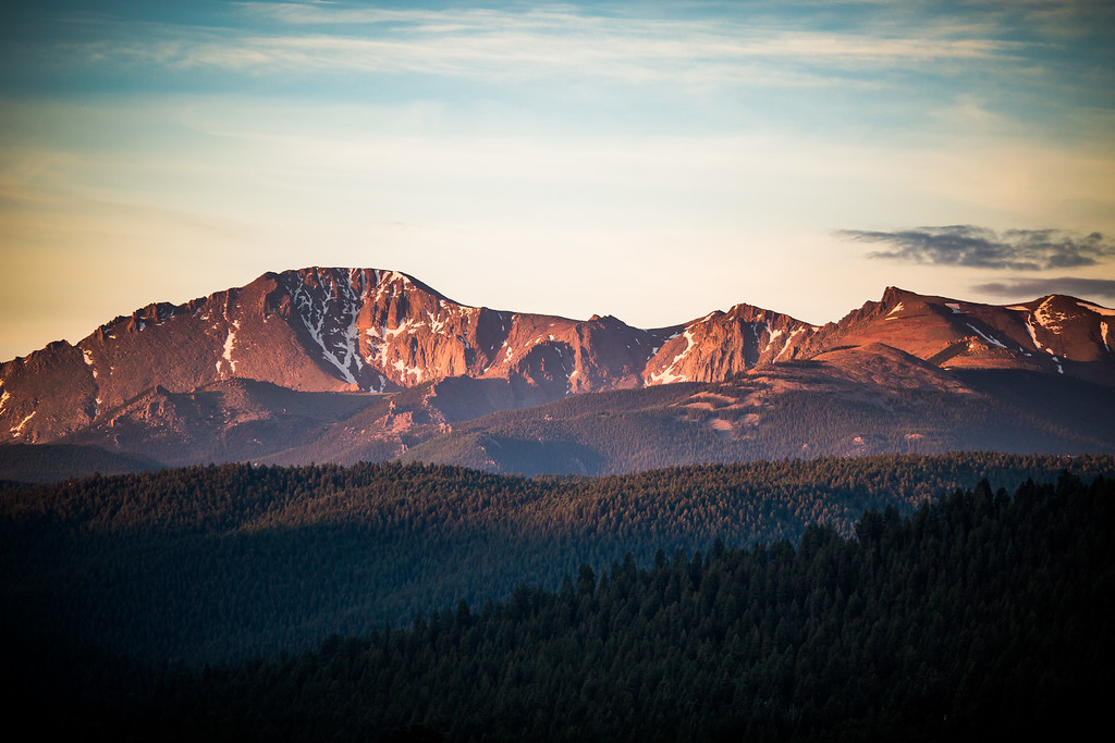 Pikes Peak Sunrise - Woodland Park, CO