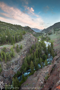 East Fork of the Salmon RIver gorge - Boulder White Cloud Mountains
