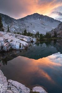 Island Lake sunset - White Cloud Mountains