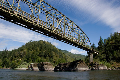 Page 59 - Lobster Creek Bridge and Massacre Rocks.  This is the last logical take-out for rafters.