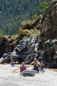 Page 39 - Cooling off in Washboard Rapid during a mid-July commercial trip.