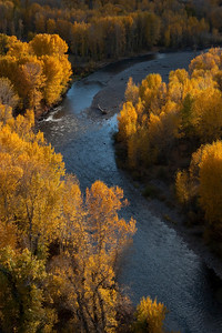 Big Wood River in full fall foliage.