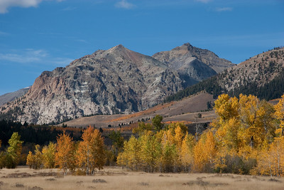 Fall colors highlight Lightning Point and Lorenzo Peak.