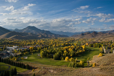 Looking north across the Bigwood Golf Course to Griffin Butte from Penny Mountain.