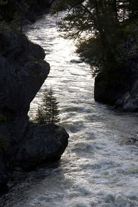 Lower Dagger Falls cliff silhouette.