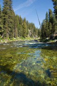 Gin-clear waters of the upper Middle Fork canyon.