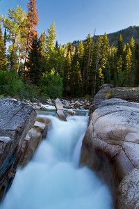 Slot Falls on the South Fork of the Payette River.