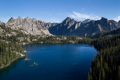 Upper Baron Lake, Mt. Ebert, and Ee-Da-How Spire.