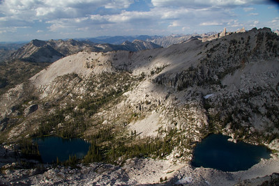 Arrowhead and Pats Lake from the summit of Anderson Peak