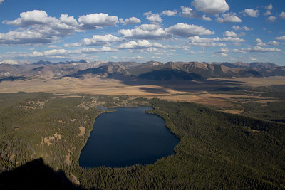 Pettis Lake and the Sawtooth Valley.