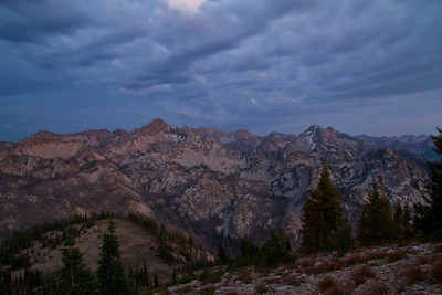 The brooding colors of twilight from Observation Peak.