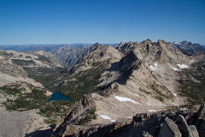 Looking down Goat Creek from the summit of Reward Peak
