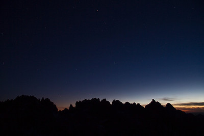 Stars over the Monte Verita Ridgeline