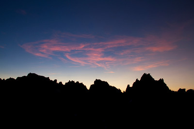 Sawtooth Mountains, ID - Sunrise colors from the Baron Divide.
