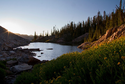 Sunset in Flytrip Basin.