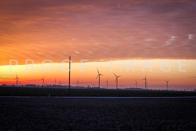 Sunrise with Windmills