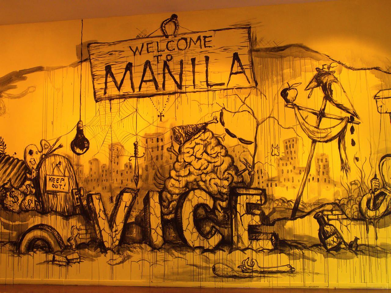 Manuel Ocampo - Welcome To Manila Vice (peinture murale)