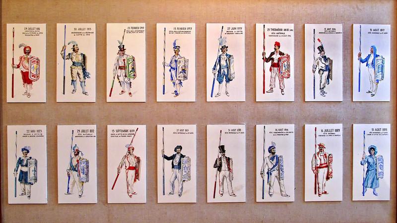 Costumes de Jouteurs Sétois de 1666 à 1891
