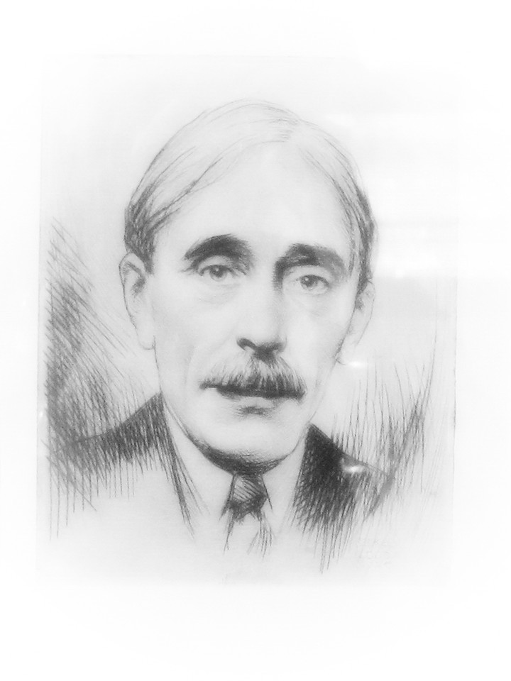 """Portrait de Paul Valéry de face"" 1926"