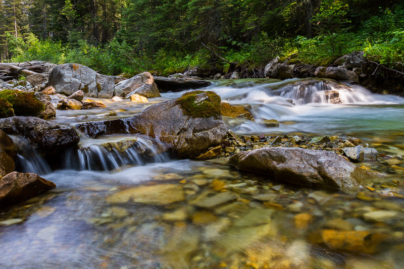 Small waterfall in Waterton Lakes National Park, Alberta, Canada.