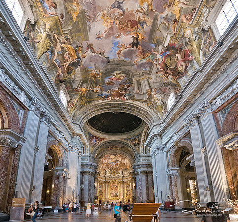 "Church of St. Ignatius - have you noticed I have a ""special"" lens that able to enhance the ceiling perspective?"