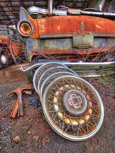 """Hubcaps"", Old Car City"