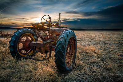 Tractor Sunrise