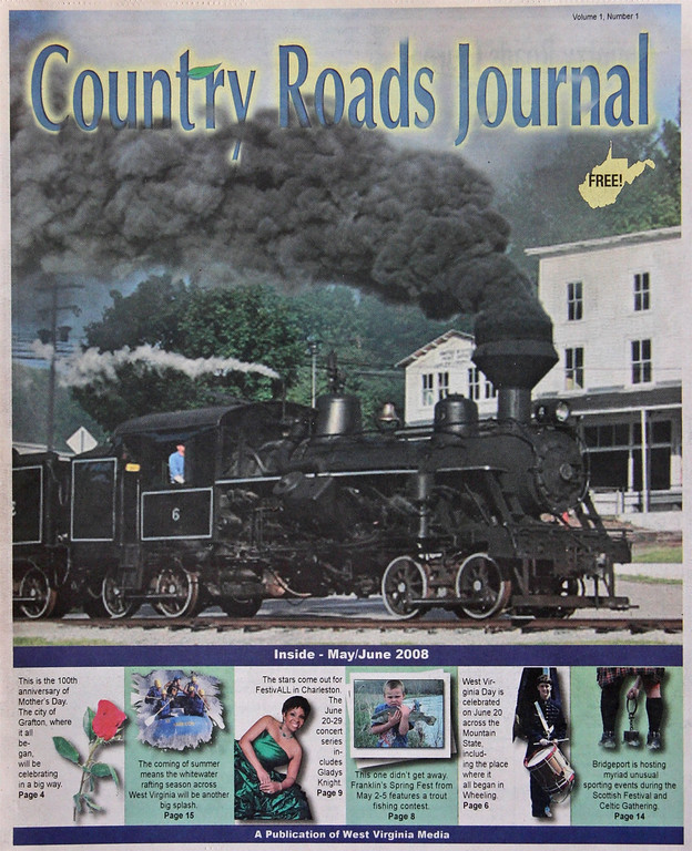 "Cover of ""Country Roads Journal"" events publication."