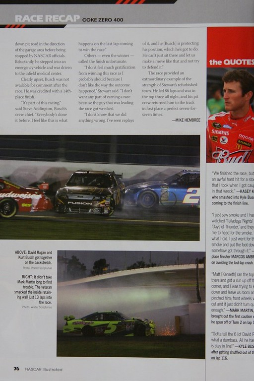 "Nascar Illustrated ""Coke Zero 400"" 2009"