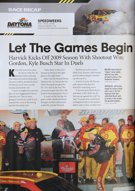 "Nascar Illustrated ""Budweiser Shootout"""