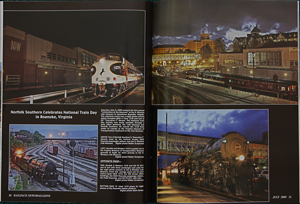 RAILPACE News Magazine photo spread
